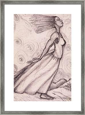 Exhaled Framed Print by Malik Seneferu