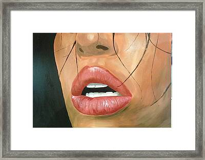 Exhaustive Lips Framed Print by Michael McKenzie
