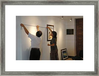 Exhibition Cozumels Museum Framed Print by Angel Ortiz