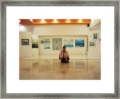 Exhibition Pza. Pelicanos Framed Print by Angel Ortiz
