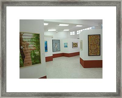 Exhibition Tulum 2008 Framed Print by Angel Ortiz