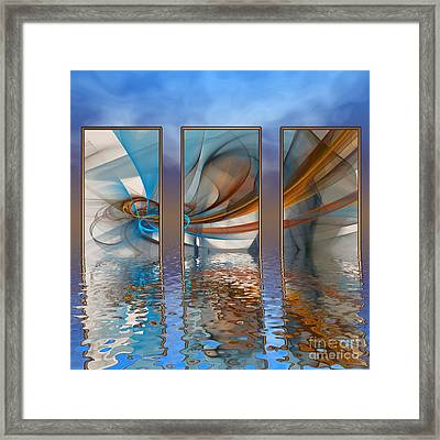 Exhibition Under The Sky Framed Print