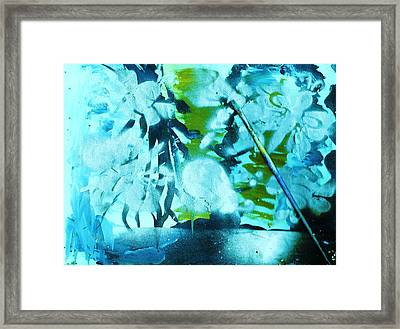 Exhirlarating Variation In Blues  Framed Print by Anne-elizabeth Whiteway