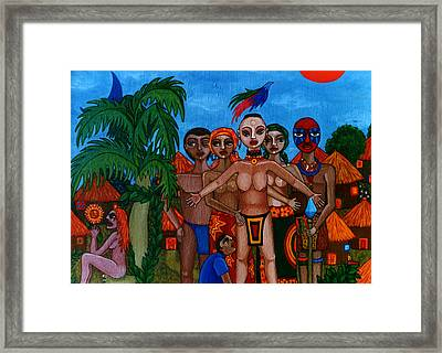 Exiled In Homeland Framed Print by Madalena Lobao-Tello