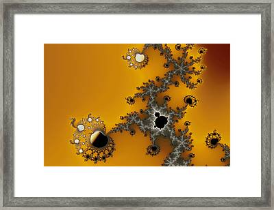 Exiled Mandelbrot No. 75 Framed Print by Mark Eggleston