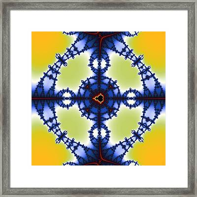 Exiled Mandelbrot No. 76 Framed Print by Mark Eggleston