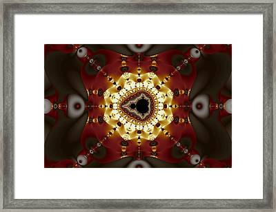 Exiled Mandelbrot No. 9 Framed Print by Mark Eggleston