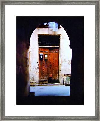 Exit And Entrance Framed Print