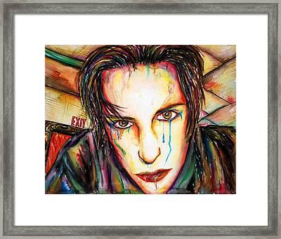 Exit Framed Print by Joseph Lawrence Vasile