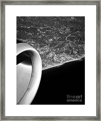 Exit Row - Window Seat Framed Print by Gwyn Newcombe