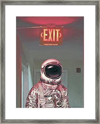 Exit Framed Print by Scott Listfield