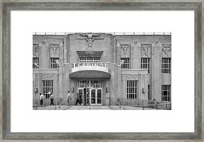 Exit Stage Left - Bw Framed Print