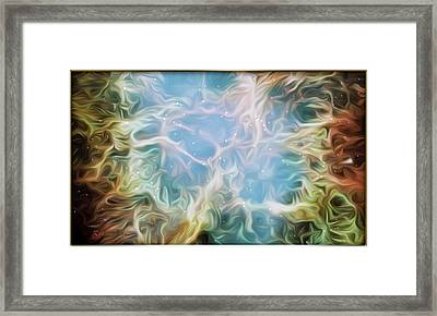 Exiting The Brave Cave  Framed Print