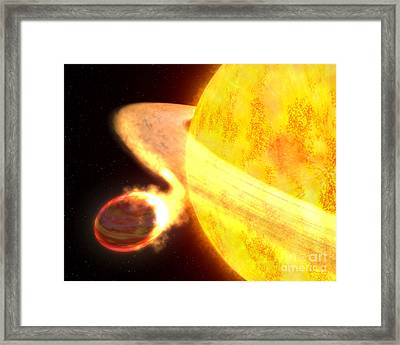 Exoplanet Wasp-12b Framed Print by Science Source