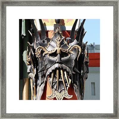 Exotic Chinese Mask Framed Print