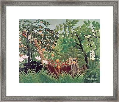 Exotic Landscape Framed Print by Henri Rousseau
