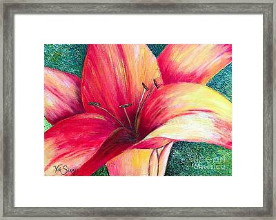 Exotic Lily Framed Print