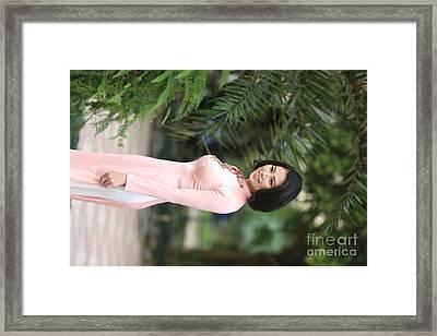 Exotic Vietnamese Woman Framed Print
