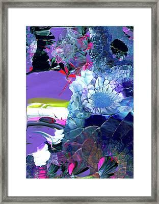 Exotic White Rose Island Framed Print