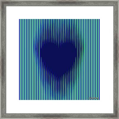 Expanding Heart 2 Framed Print