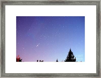 Expanding Sky Framed Print