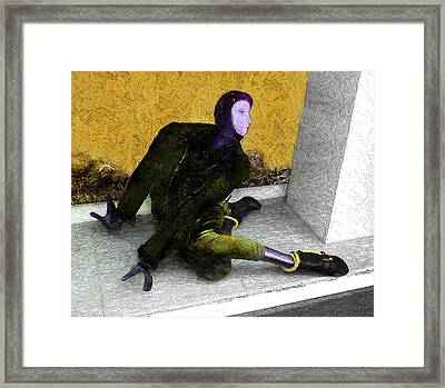 Expectation Framed Print by Alex Galkin