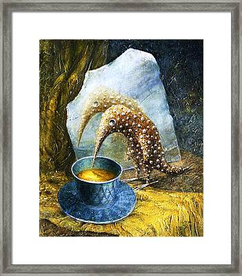 Expectation Framed Print by Lolita Bronzini