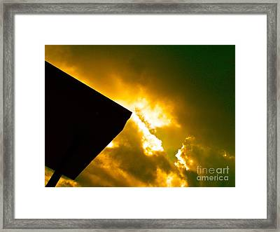 Expecting The Voice Of God At Any Moment Framed Print by Chuck Taylor