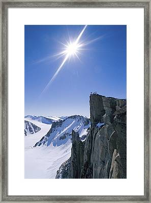 Expedition Members Celebrate Framed Print