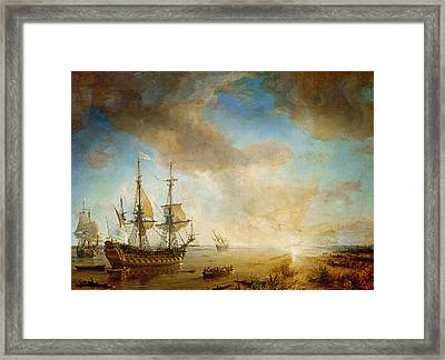 Expedition Of Robert Cavelier De La Salle  Framed Print by Jean Antoine Theodore Gudin