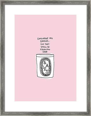 Expensive Candles Framed Print