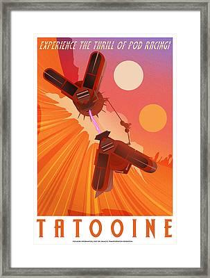 Experience Tatooine Framed Print