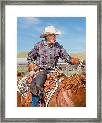 Experienced Cowboy Framed Print by Todd Klassy