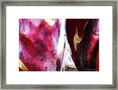 Experiment 1 Pink And Black Framed Print by Sharon Cummings