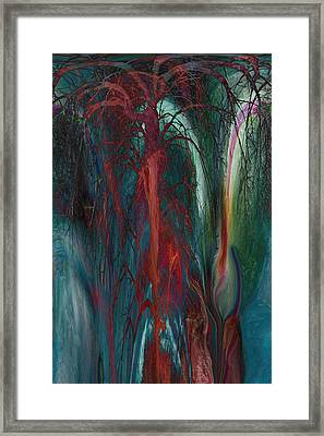 Experimental Tree Framed Print by Linda Sannuti