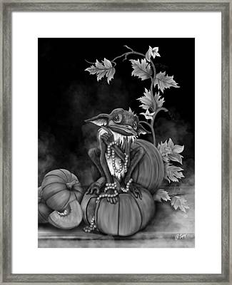 Explain Yourself - Black And White Fantasy Art Framed Print