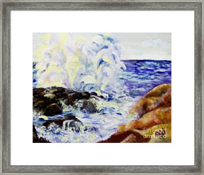 Framed Print featuring the painting Explode by Saundra Johnson