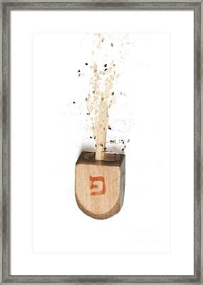 exploding Dreidel Framed Print by Humorous Quotes