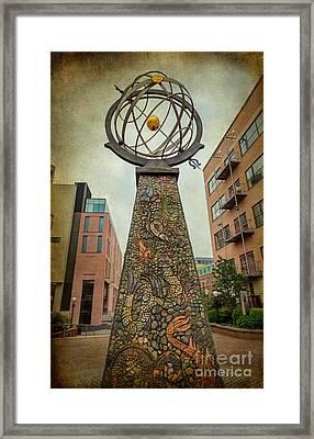 Exploration Obelisk  Framed Print