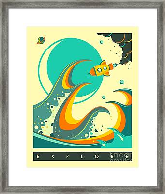 Explore 1 Framed Print by Jazzberry Blue