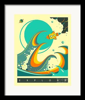 Waves Digital Art Framed Prints