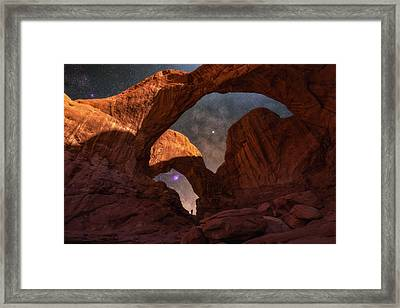 Framed Print featuring the photograph Explore The Night by Darren White