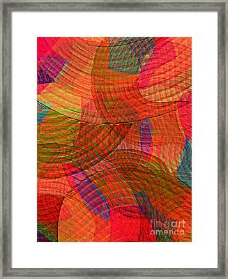 Explore Transdimensions Red 24 Framed Print