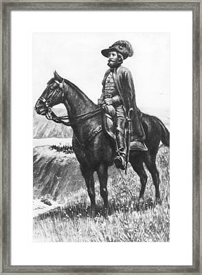 Explorer Juan Bautista De Anza Framed Print by Underwood Archives