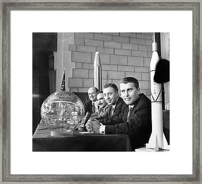 Explorer Space Scientists Framed Print