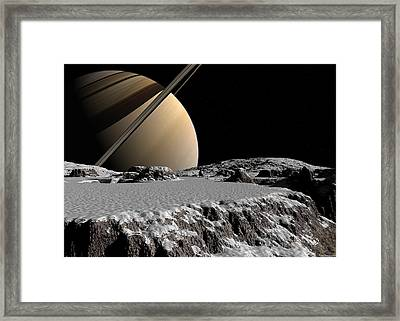 Framed Print featuring the digital art Exploring A New World by David Robinson
