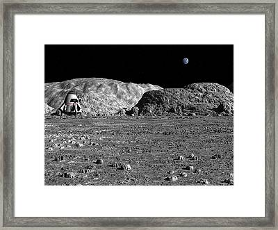 Framed Print featuring the digital art Exploring Archimedes by David Robinson