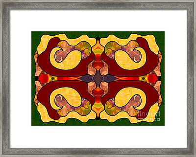 Exploring Consciousness Abstract Art By Omashte Framed Print by Omaste Witkowski