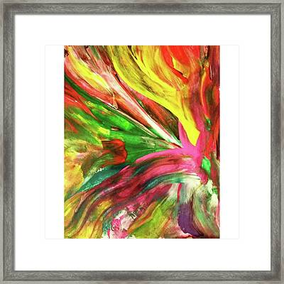 Exploring Limits #colours #bright Framed Print