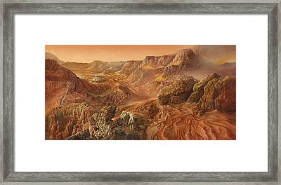 Exploring Mars Nanedi Valles Framed Print by Don Dixon